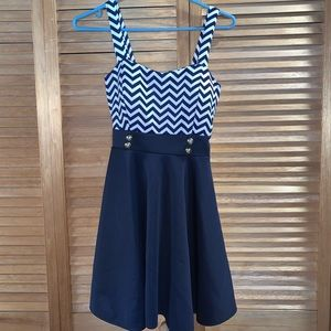 Nautical-Style Skater Dress